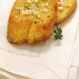 Garlic roasted on toast