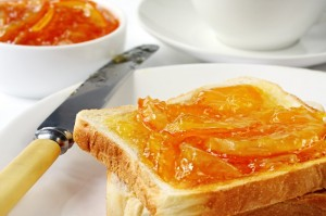 Orange marmalade on toast